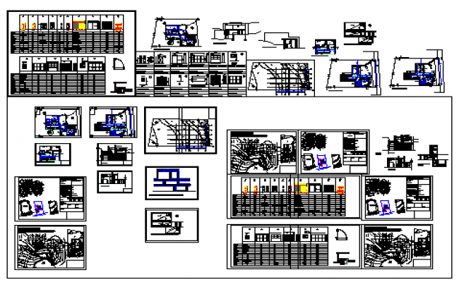 Architectural building construction design drawing