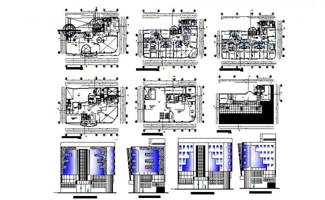 Architectural design of Hotel building 15.50mtr x 25mtr in AutoCAD
