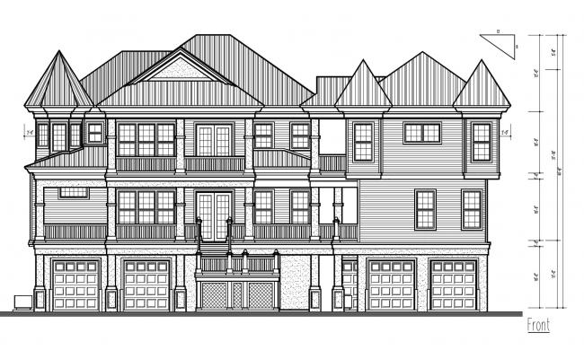 Bungalow Elevation Design in AutoCAD
