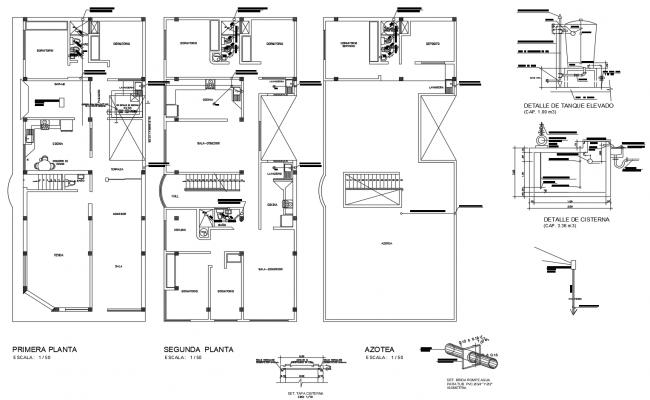 Farmhouse Floor Plan In DWG File
