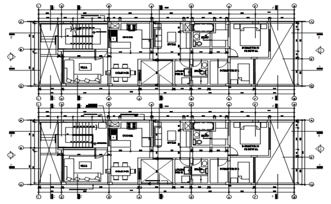 House Design Layout Plan In AutoCAD File