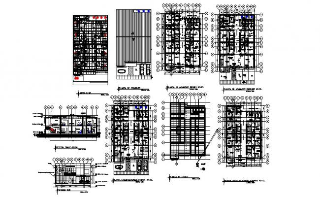 Architectural drawing of Clinic 14.80mtr x 21.93mtr with detail dimension in dwg file