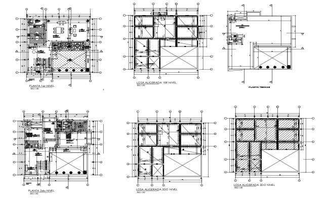 Architectural drawing of bungalow 17.13mtr x 17.00mtr with detail dimension in AutoCAD