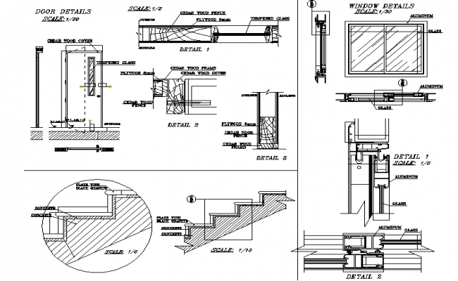 Architectural execution detail dwg file