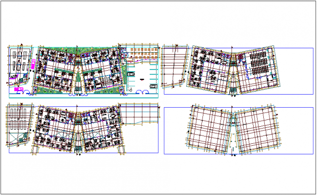 Architectural floor plan of corporate office dwg file