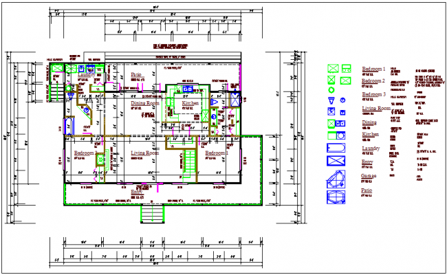 Architectural floor plan view dwg file