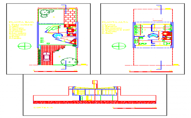 Architectural house design drawing