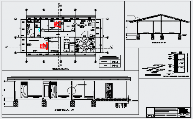 Architectural Layout Design Drawing Of Bungalow Design