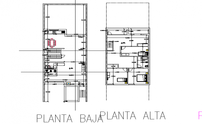 Architectural layout plan dwg file