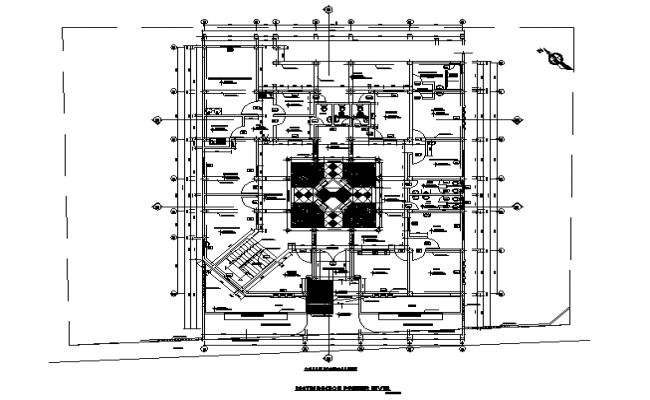 Architectural layout plan of a building dwg file