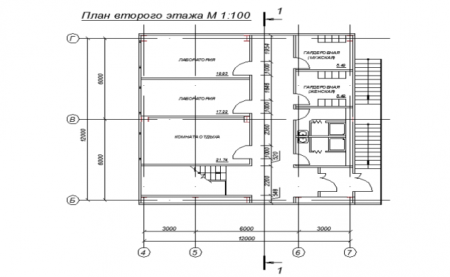 Architectural layout plan of a house dwg fil