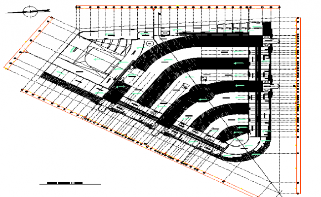 Architectural layout plan of building