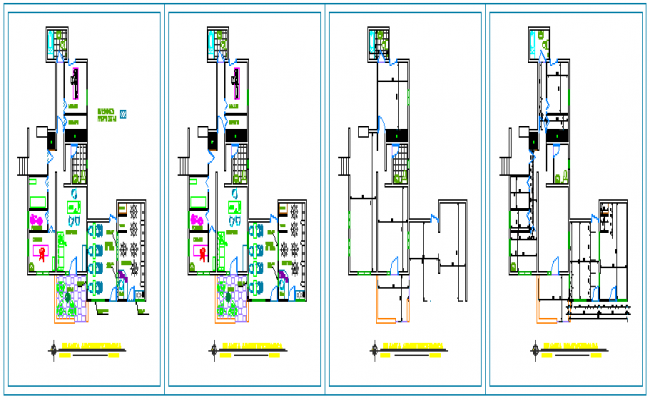 Architectural of Clinical aesthetics design drawing