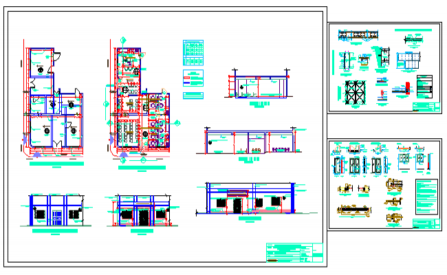 Architectural offices design drawing