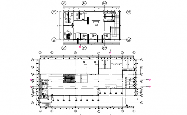 Architectural plan detail dwg file.