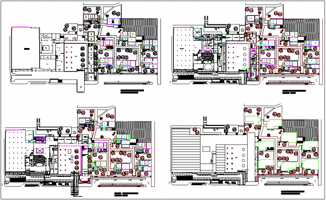 Architectural plan for faculty of architecture dwg file