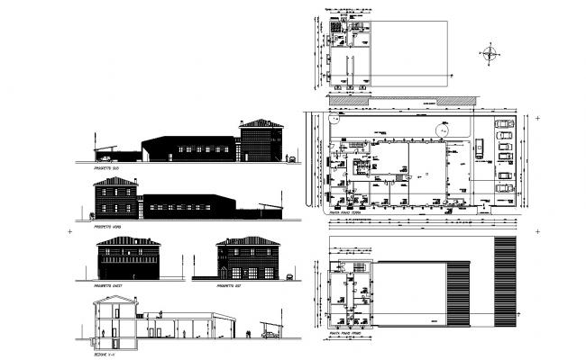 Small Building Plan In AutoCAD File