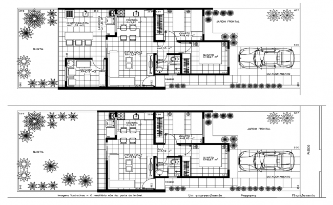 2 Bedroom House Design In AutoCAD File