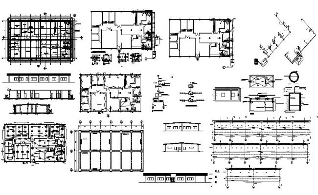 Hospital Building Plan In AutoCAD File