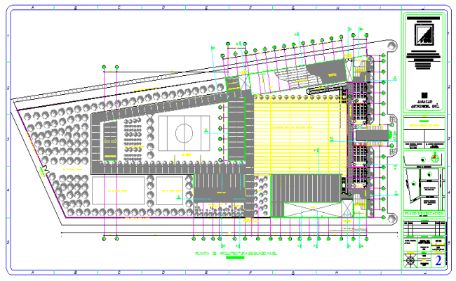 Architectural Plan Of School Project Design Drawing