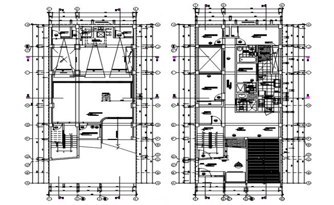 Architectural plan of apartment design in autocad