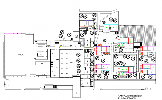 Architectural plan of collage dwg file