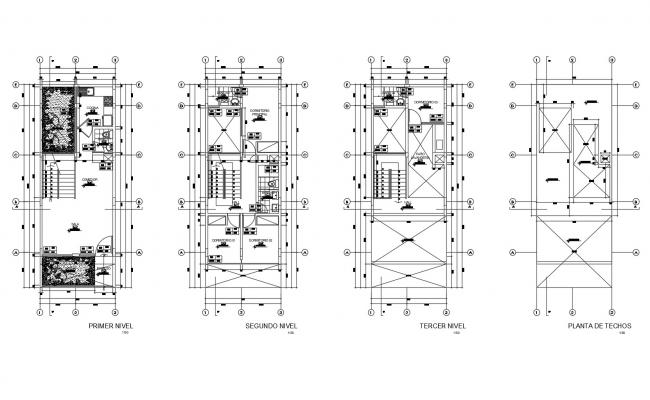 Architectural plan of home with detail dimension in AutoCAD
