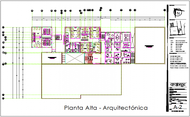 Architectural plan of hospital dwg file