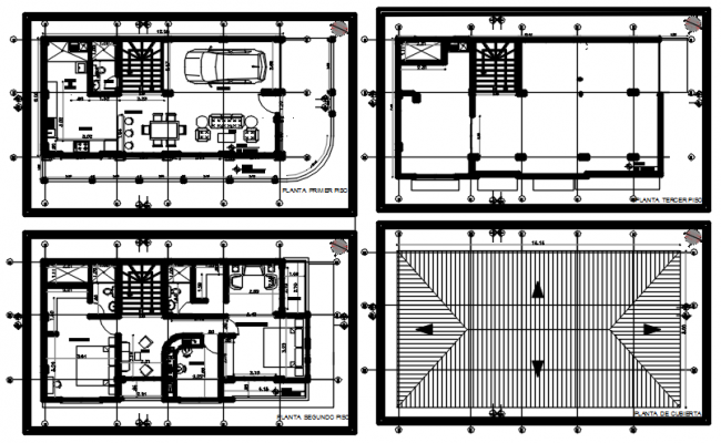 Architectural plan of house 12.00mtr x 6.00mtr with detail dimension in dwg file