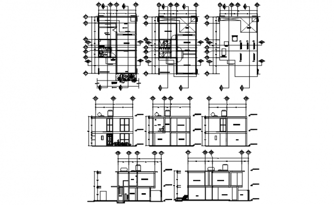 Architectural plan of house 6.00mtr x 9.75mtr with detail dimension in dwg file