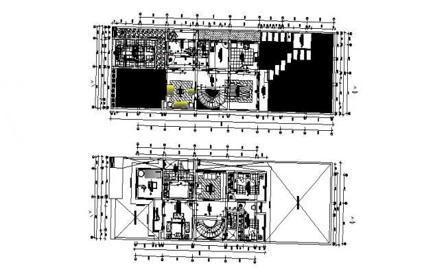 Modern Villa Plan In DWG File