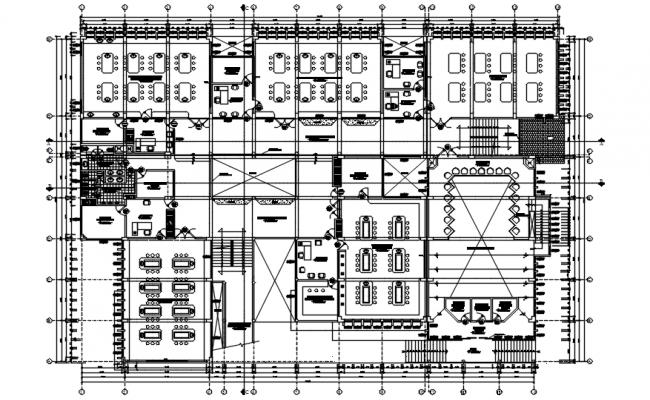 Architectural plan of institute design in AutoCAD