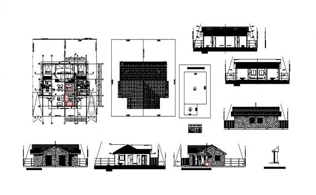 Architectural plan of residential apartment 5.50mtr x 8.94mtr with detail dimension in dwg file