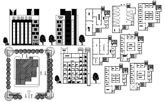 Shopping Mall Design In DWG File