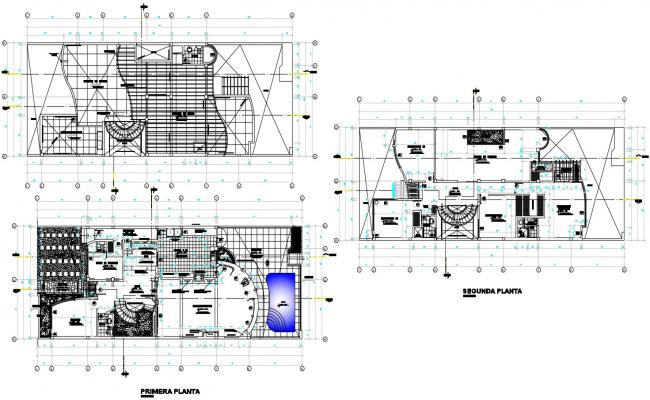 Architectural villa design plan with detail dimension in DWG file