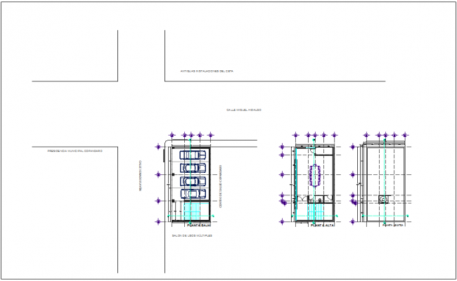 Architectural project of government board room dwg file
