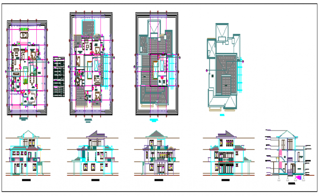 Architectural residence design drawing
