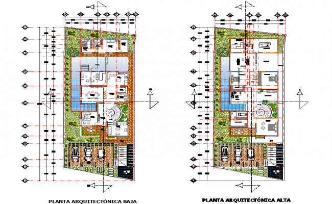 Architectural residence plan detail