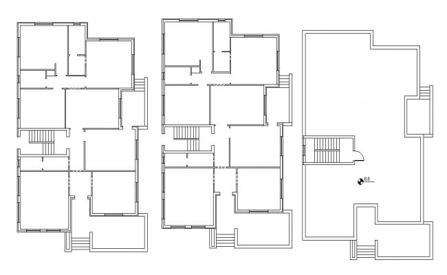Architectural Residential Building Planning AutoCAD File