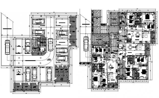 Architecture Apartment Plan DWG File