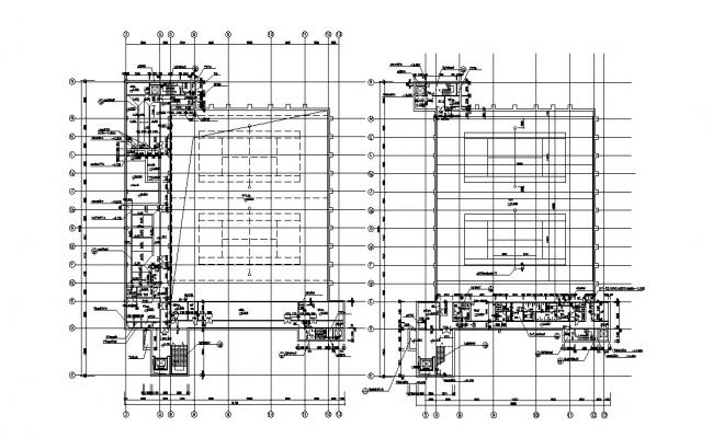 Architecture Building AutoCAD Drawing