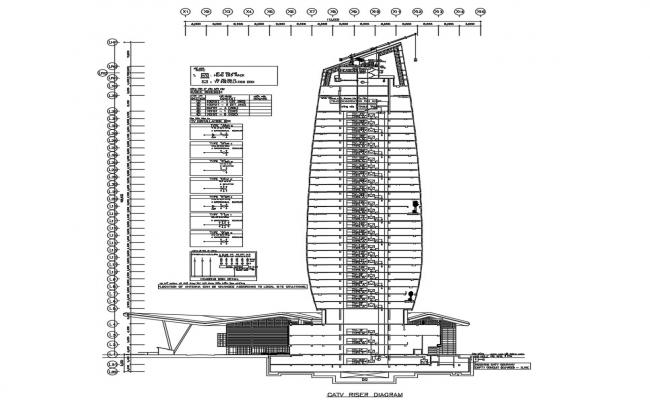 Architecture Building Section CAD Drawing