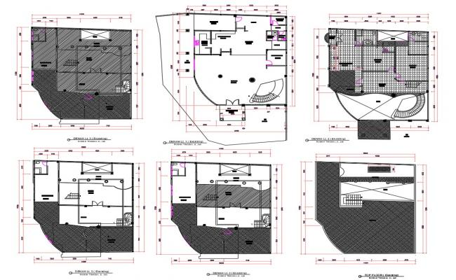 Architecture Bungalow Floor Plan AutoCAD file