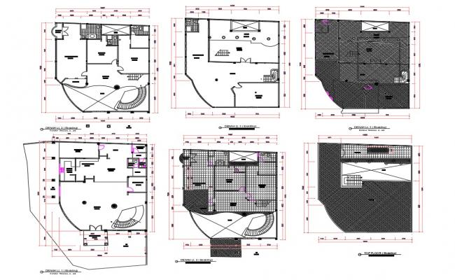 Architecture Bungalow Floor Plan DWG File