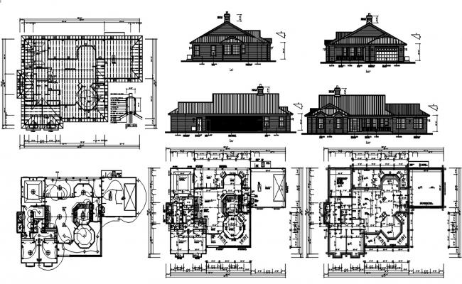Architecture Bungalow Project AutoCAD File