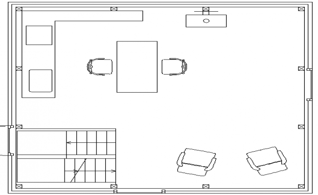Architecture Design of Office plan wg file