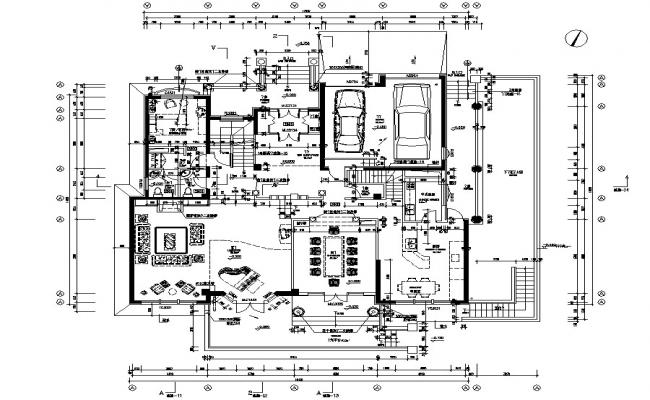 Architecture House Plan AutoCAD Drawing