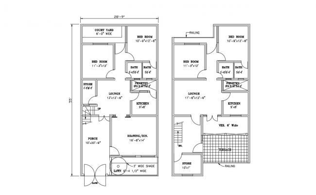 Architecture House Plan AutoCAD File
