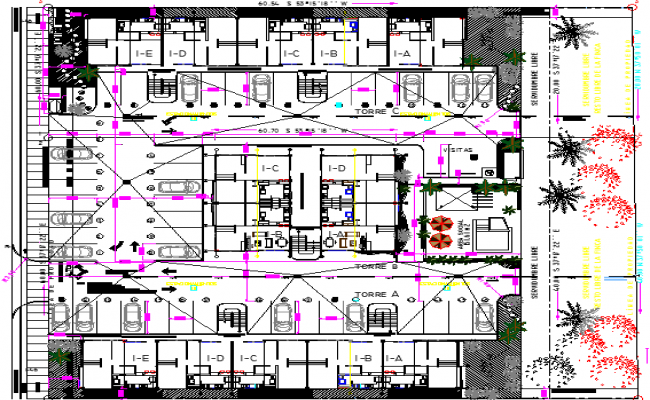 Architecture Layout Of Residential Complex Elevation Dwg File