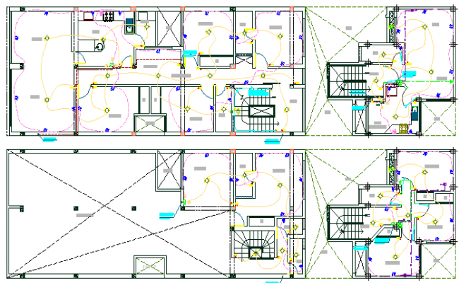 Architecture Layout of Shopping Mall Electric Installation dwg file